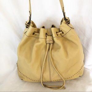 Cole Haan pebble leather camel hobo bag purse lg